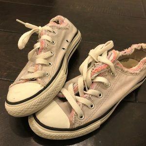 Light grey layered converse